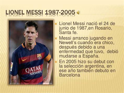 La historia de Lionel messi
