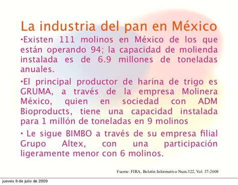La industria del pan en mexico