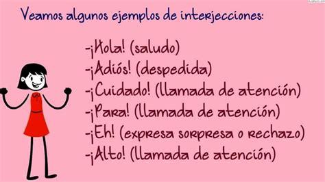 La Interjección/Lengua Sexto Primaria  11 años /AulaFacil ...