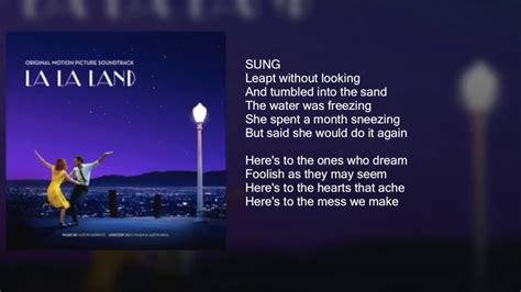 La La Land - Audition (Fools Who Dream) - Lyrics - YouTube