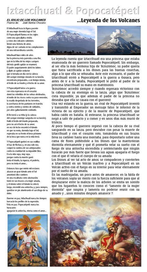 La leyenda de los Volcanes de México ...Iztaccíhuatl y ...