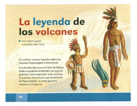 La leyenda de los volcanes   Español Lecturas 2do grado ...