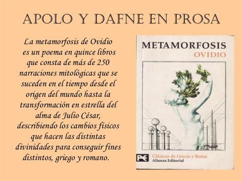 La literatura griega. Apolo y Dafne. Paula Rufo