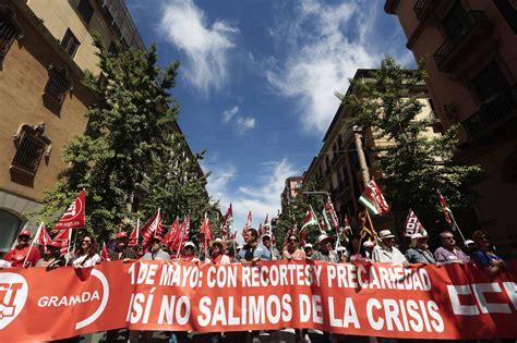 La manifestación granadina por las calles del ...