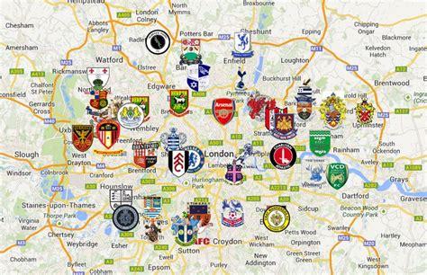 La mappa delle squadre di calcio di Londra | Great britain ...