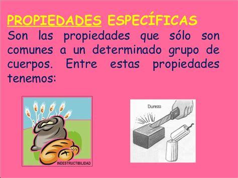 La materia propiedades específicas