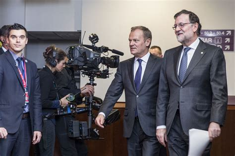 La Moncloa. 17/03/2016. Rajoy asiste al Consejo Europeo ...