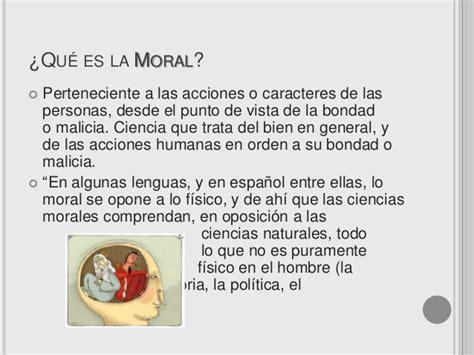 La moral en el ser humano