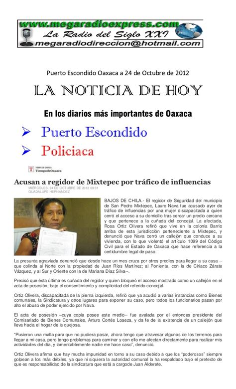 La noticia de hoy 24 10 2012