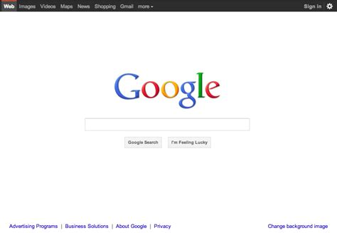 La nuova homepage di Google | Webnews