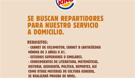La oferta de trabajo de Burger King que pedía formación en ...