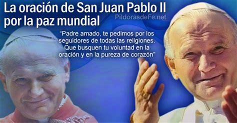 La oración de San Juan Pablo II por la paz mundial