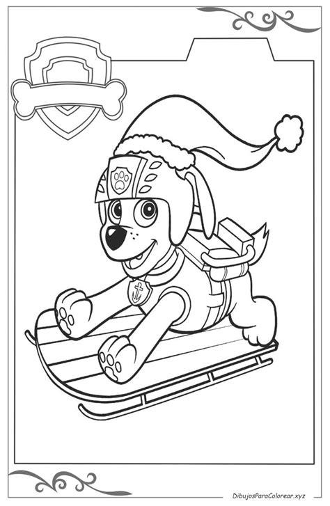 La Patrulla Canina laminas para pintar para niños gratis