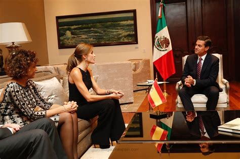 La reina Letizia, cena oficial con Peña Nieto y su esposa