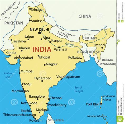 La República De India - Mapa Ilustración del Vector ...