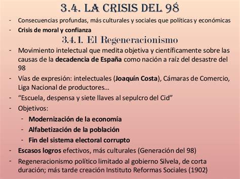 La Restauración Borbónica y la crisis del 98