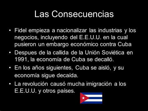 La Revolución Cubana de 1959 y las Consecuencias   ppt ...