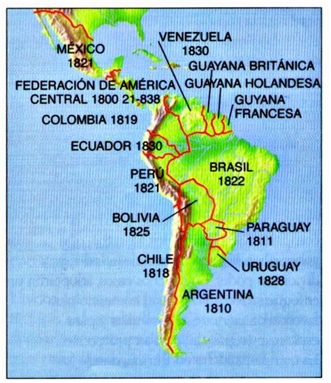 La revolución en América Latina 1808   1825