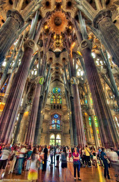 La Sagrada Familia Interior in Barcelona, Spain | Spanien ...