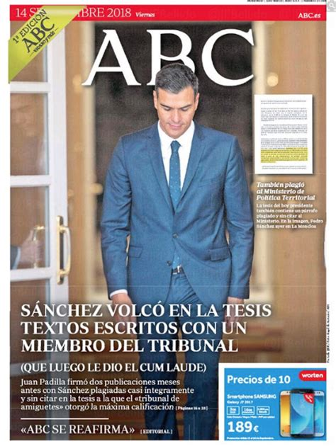 La 'tesis' de hoy de la prensa española ya se pueden ...