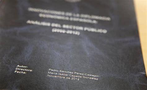 La tesis de Sánchez ya está publicada en internet | El ...
