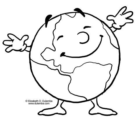 La Tierra feliz   Dibujalia   Dibujos para colorear ...