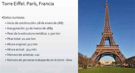 La Torre de Eiffel Historia de su Construccion Datos e ...
