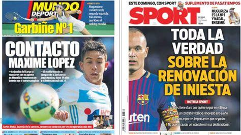La verdad de Iniesta y su relevo, en las portadas   AS.com