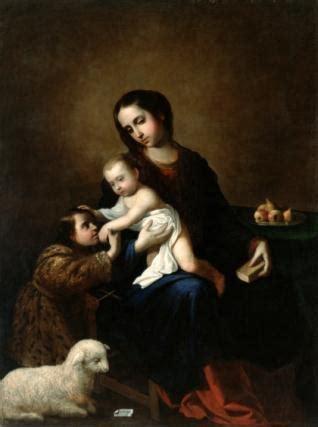 La Virgen con el Niño Jesús y San Juan Bautista niño   Mis ...