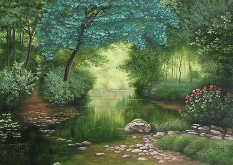 Lady Lake Painting by Shiv