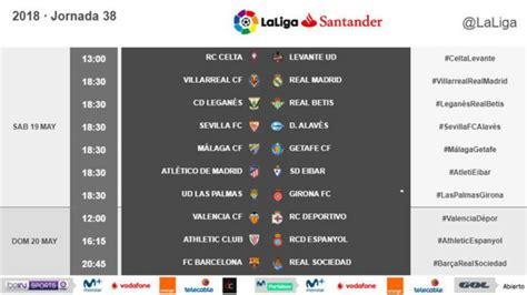 LaLiga Santander: Horarios de la última jornada de Liga ...