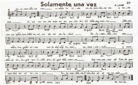 Lalus fecit   partituras coro y letras: Solamente una vez