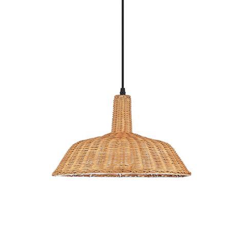 Lámpara colgante techo mimbre natural para LED   Comprar ...