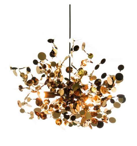Lámpara de techo de diseño hojas de latón - Fall
