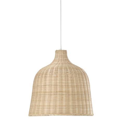 Lámpara de techo de mimbre trenzado Ø 51 cm IRINA ...