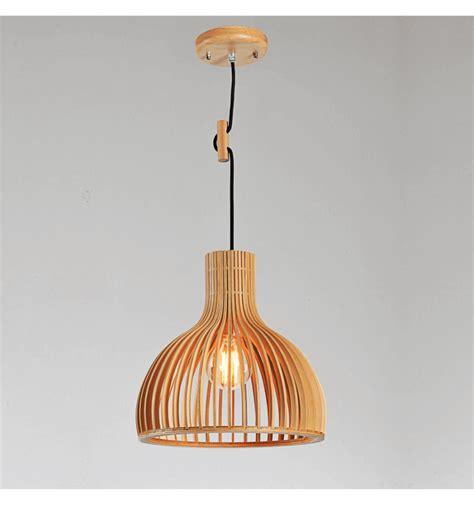 Lámpara de techo escandinava de diseño con capas de madera ...