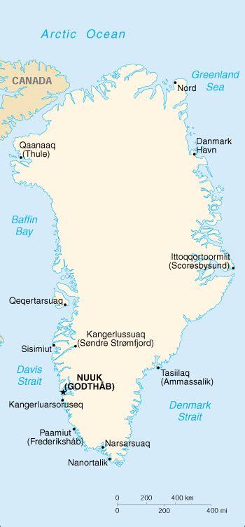 Landkarte Grönland - Landkarten download -> Grönlandkarte ...