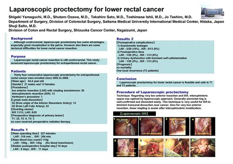 Laparoscopic Proctectomy for Lower Rectal Cancer   SAGES ...