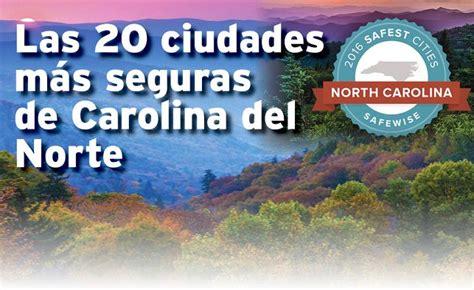 Las 20 ciudades más seguras de Carolina del Norte
