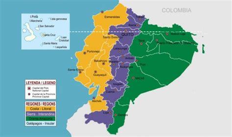 Las 24 provincias del Ecuador y sus capitales