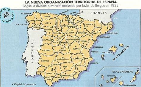 Las 49 provincias de Javier de Burgos que acabaron con el ...