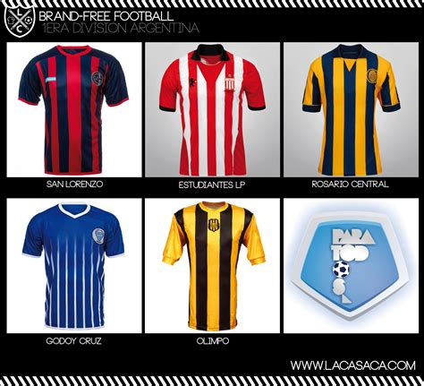 Las Camisetas del Futbol Argentino Sin Publicidad ...