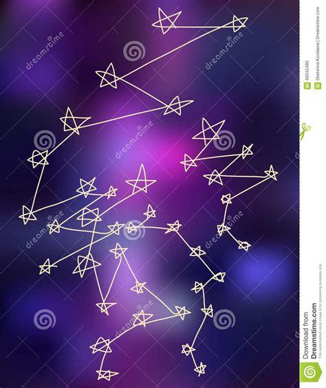 Las Constelaciones De Las Estrellas Estilizan El Fondo Del ...