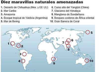 Las diez maravillas en peligro   Edición impresa   EL PAÍS