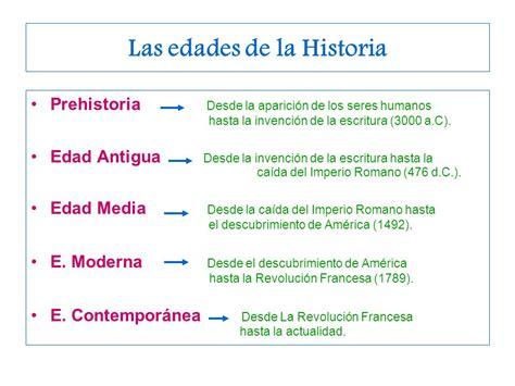 Las edades de la Historia - ppt descargar