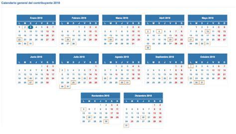 Las fechas clave para el pago de impuestos en 2018