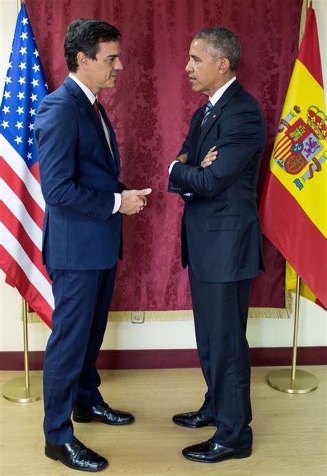 Las fotos de Barack Obama con Pedro Sánchez, Pablo ...