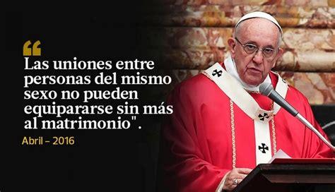 Las frases más polémicas del papa Francisco en el 2016 ...