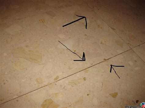 Las juntas en el suelo tipo marmol ¿como rellenarlas?