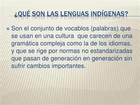 Las lenguas indigenas